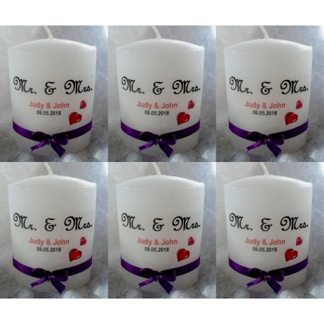 Stilvolle Gastgeschenke - Kerzen zur Hochzeit