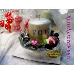 Silvester-Kerze 2021, Neujahr, Glücksbringer