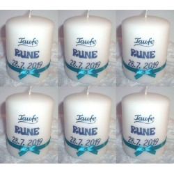Stilvolle personalisierte Gastgeschenke-Kerzchen