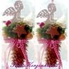 2 x dekorierte Tannenzapfen mit sitzendem Engelchen * Fensterdeko * Weihnachtsdeko * omline kaufen
