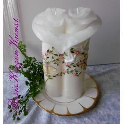 """Ausgefallene Hochzeitskerze  """"Fantasy"""" mit Teelichteinsatz"""