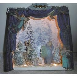 Weihnachtsdekoration * Beleuchtete Shadowbox * Weihnachtsgeschenk * Chrismas Winter Wonderland *