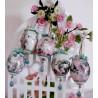 Dekoratives OSTEREIER-SET - 5 x dekorierte Ostereier im nostalgischen Look
