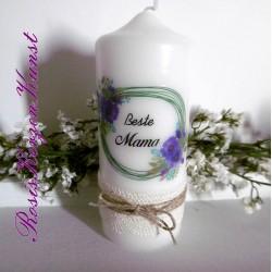 Wunderschöne Kerze zum MUTTERTAG * Beste Mama * Geschenk *