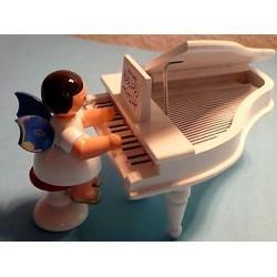 Musikengel mit Musikflügel original Erzgebirge