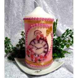 Wunderschön gestaltete Kerze zum Geburtstag